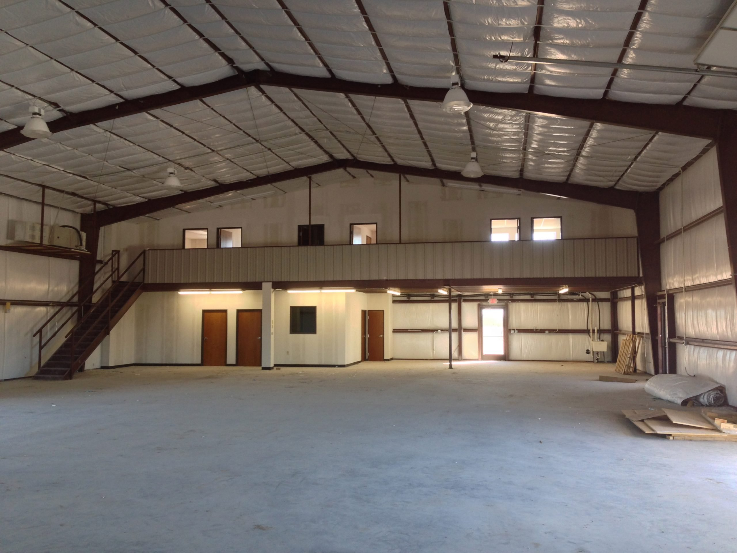 A finished construction project using Lowery's Wholesale steel for the load bearing members.